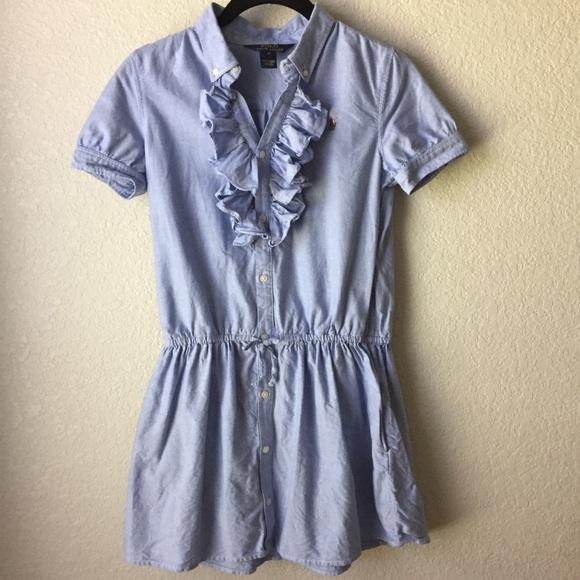 b1647fc352f49 Girls' Polo Ralph Lauren Ruffled Shirt Dress. M_5b01f4c6d39ca2509a0a3111